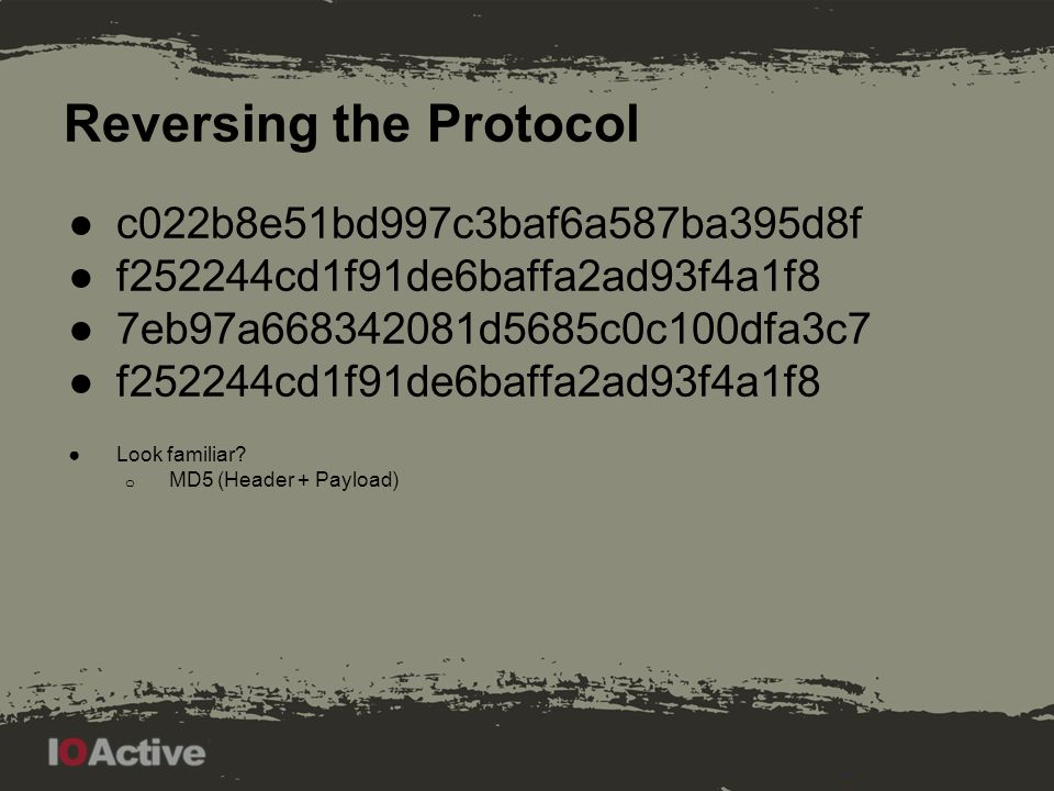 Reversing the Protocol