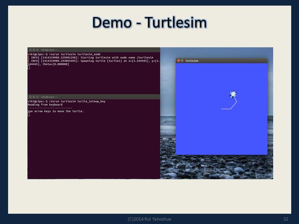 Demo - Turtlesim (C)2014 Roi Yehoshua