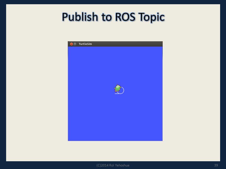 Publish to ROS Topic (C)2014 Roi Yehoshua