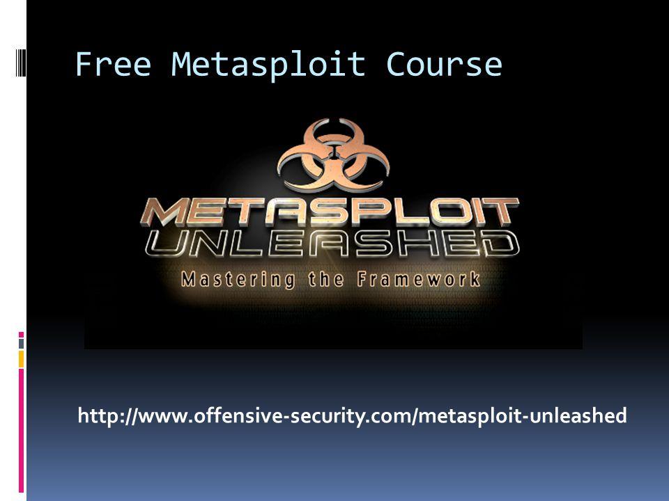 Free Metasploit Course