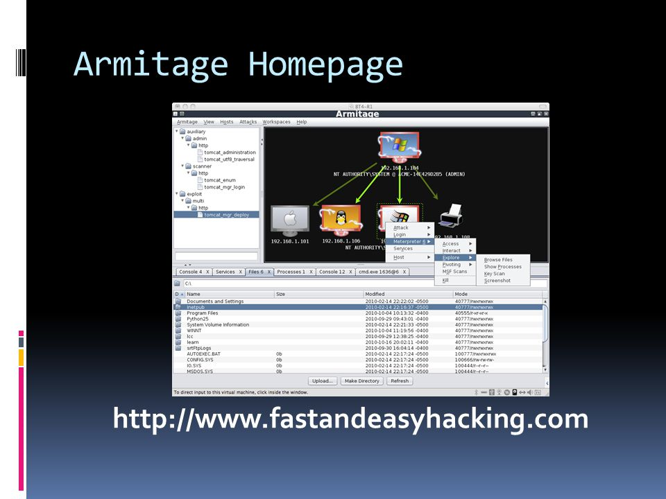 Armitage Homepage http://www.fastandeasyhacking.com