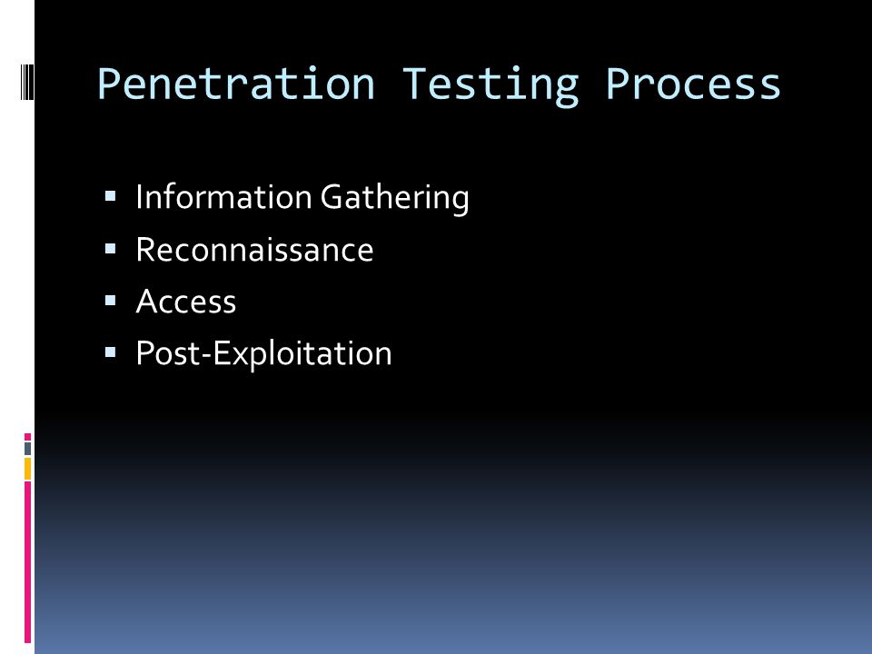 Penetration Testing Process