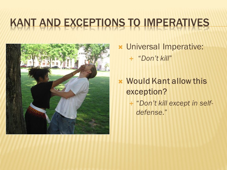 Kant and exceptions to imperatives