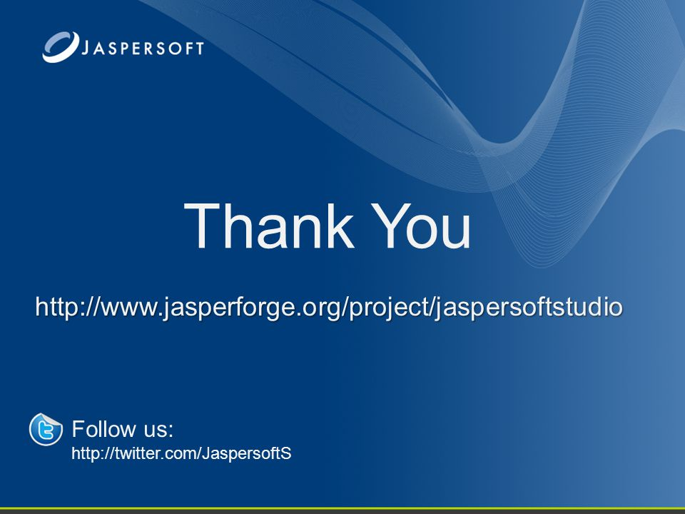 Thank You http://www.jasperforge.org/project/jaspersoftstudio