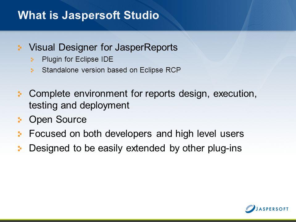 What is Jaspersoft Studio