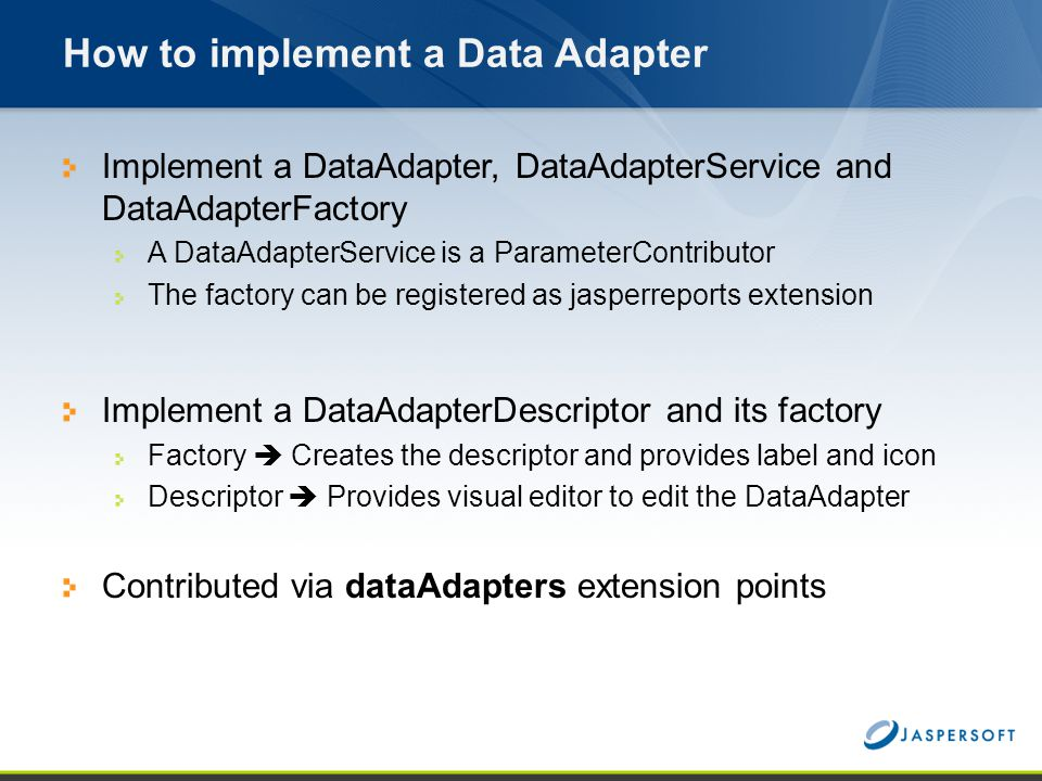 How to implement a Data Adapter
