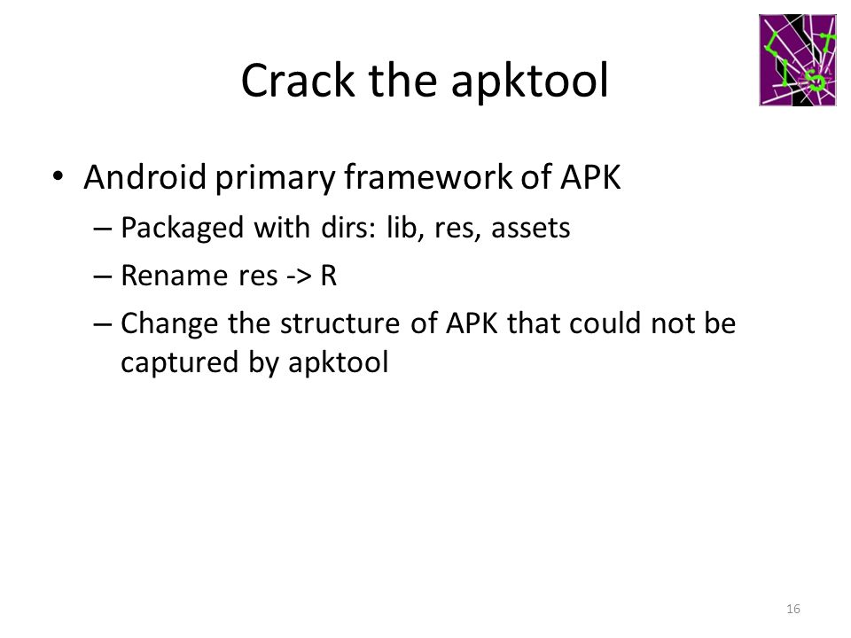 Crack the apktool Android primary framework of APK