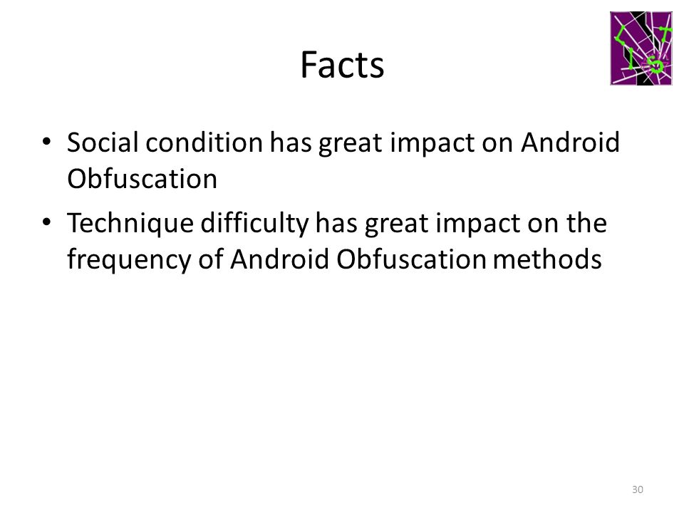 Facts Social condition has great impact on Android Obfuscation