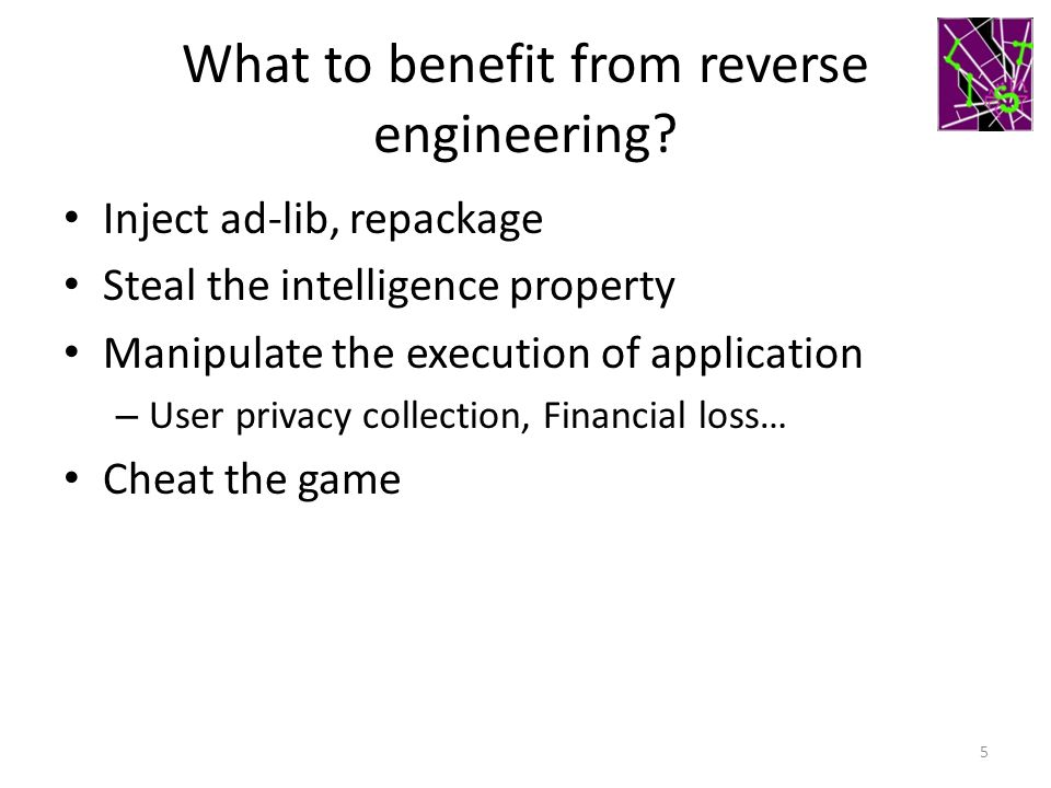 What to benefit from reverse engineering