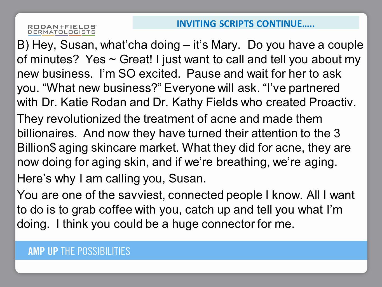 Inviting scriptS continue…..