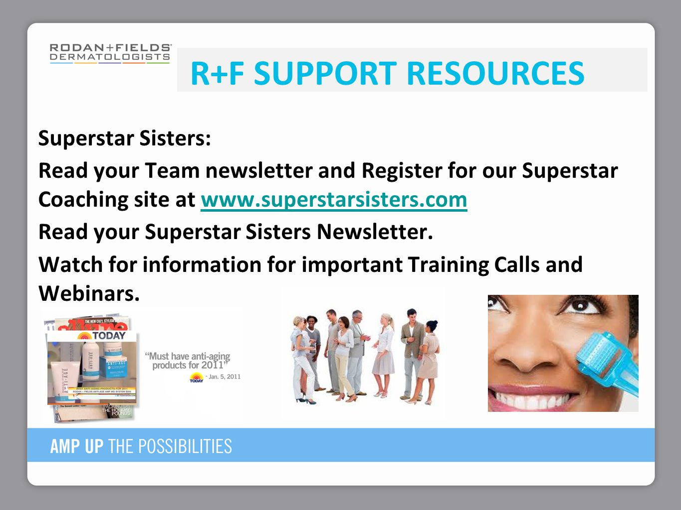 R+F Support Resources
