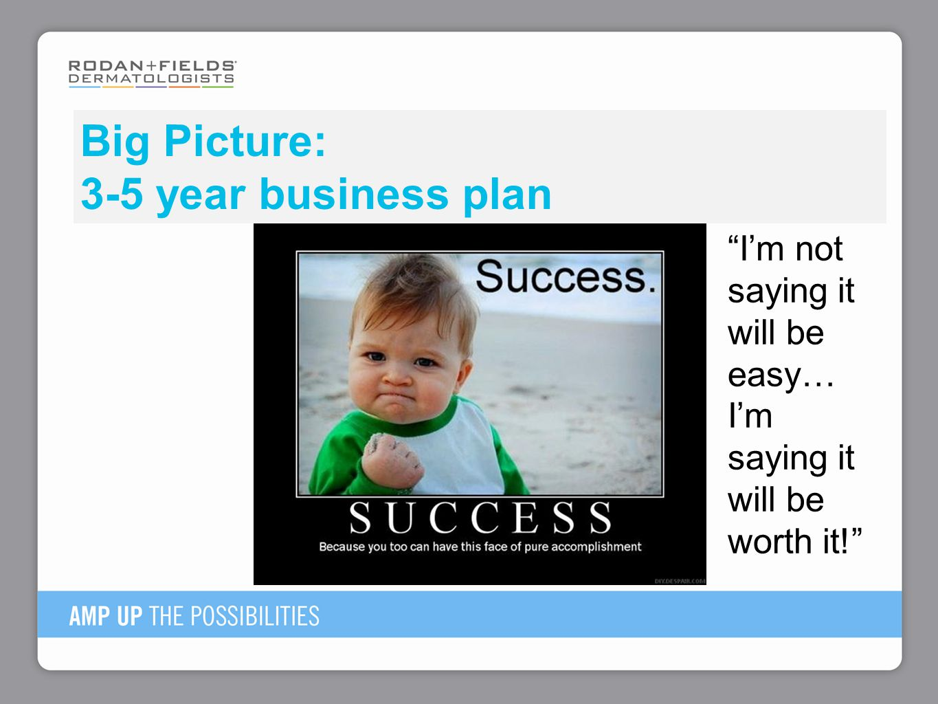 Big Picture: 3-5 year business plan