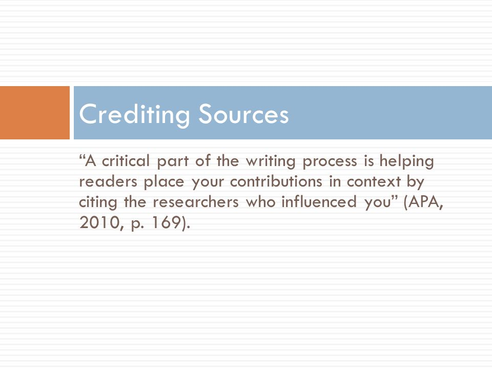 Crediting Sources