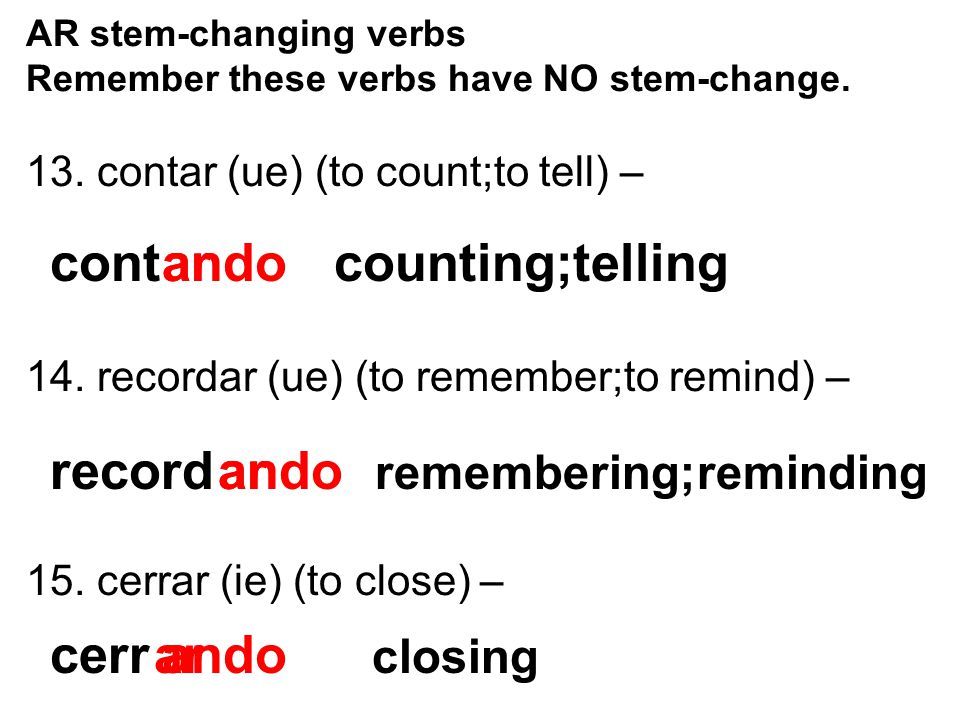 ando counting;telling ar