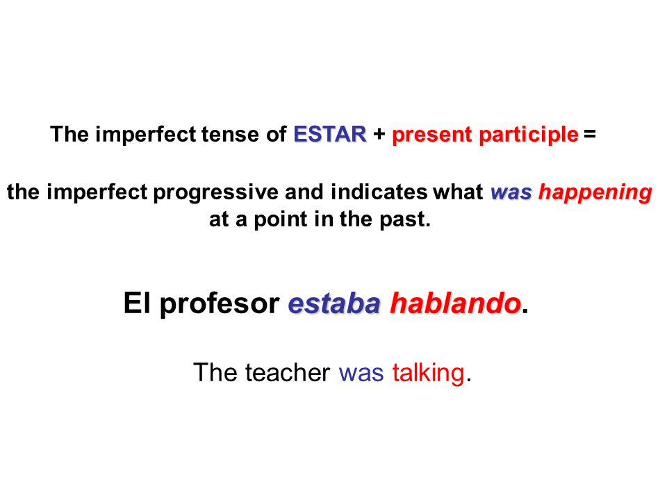 The teacher was talking.