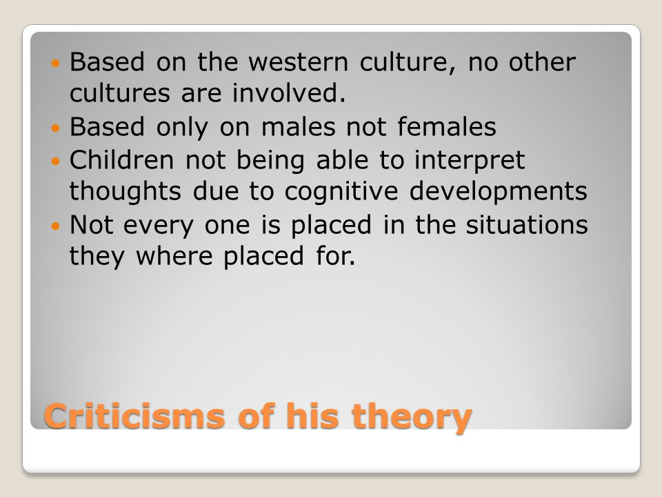 Criticisms of his theory
