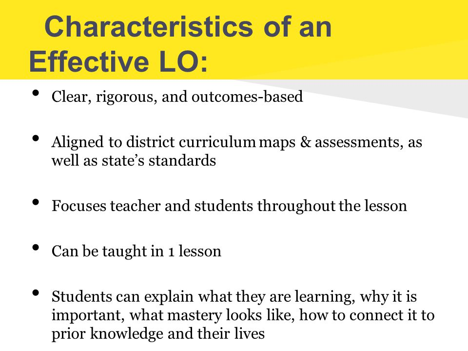 Characteristics of an Effective LO: