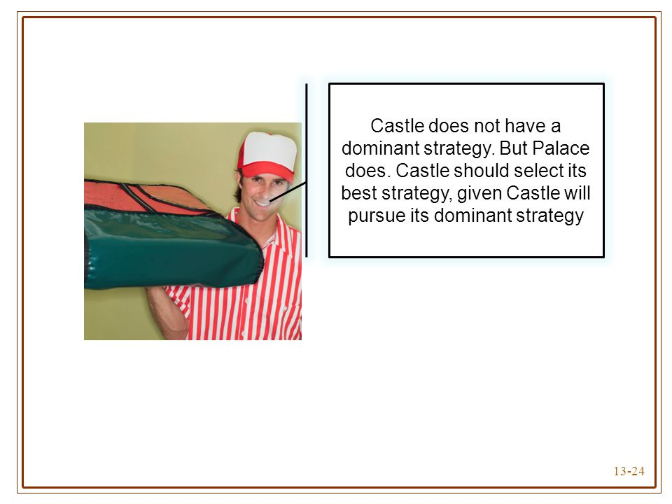 Castle does not have a dominant strategy. But Palace does