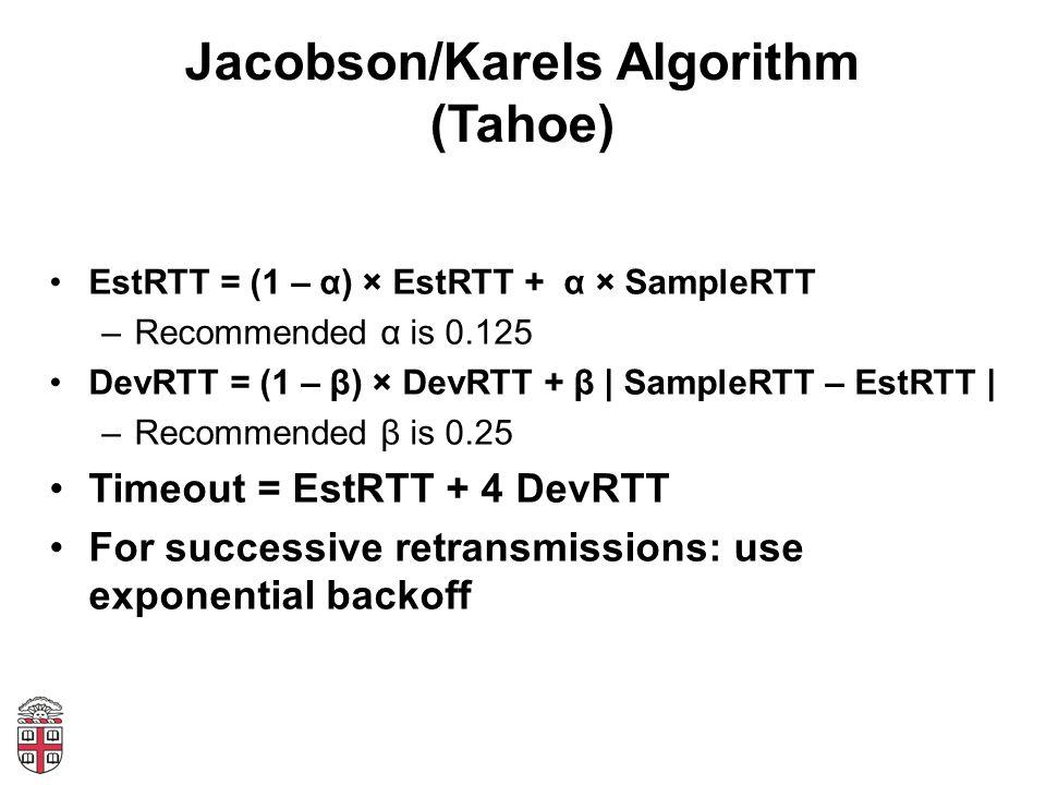 Jacobson/Karels Algorithm (Tahoe)