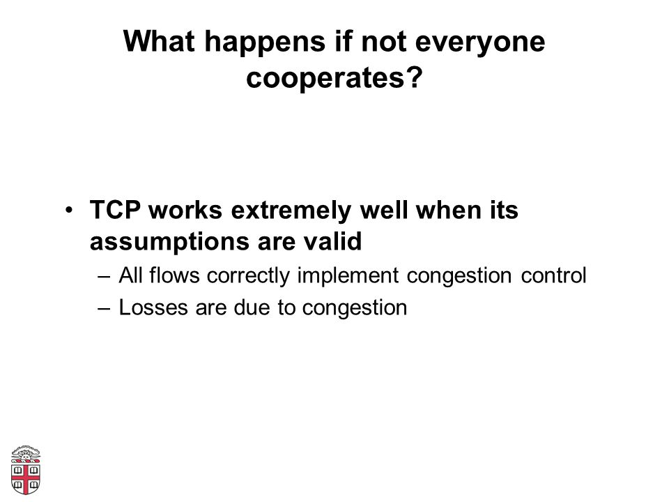 What happens if not everyone cooperates