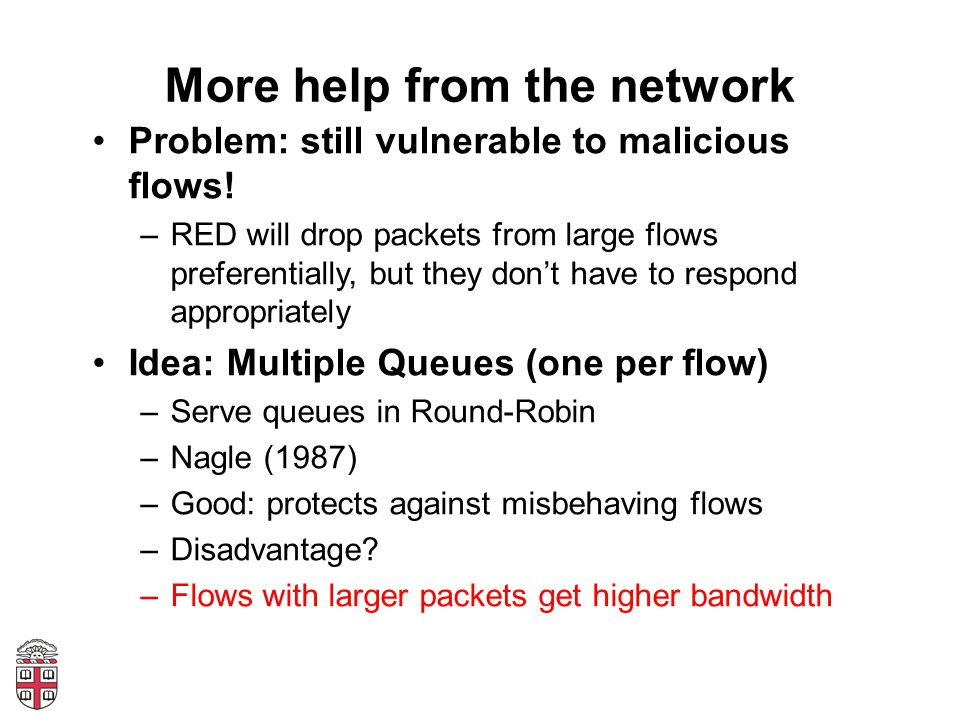 More help from the network