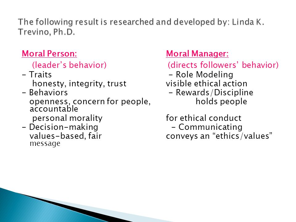 The following result is researched and developed by: Linda K