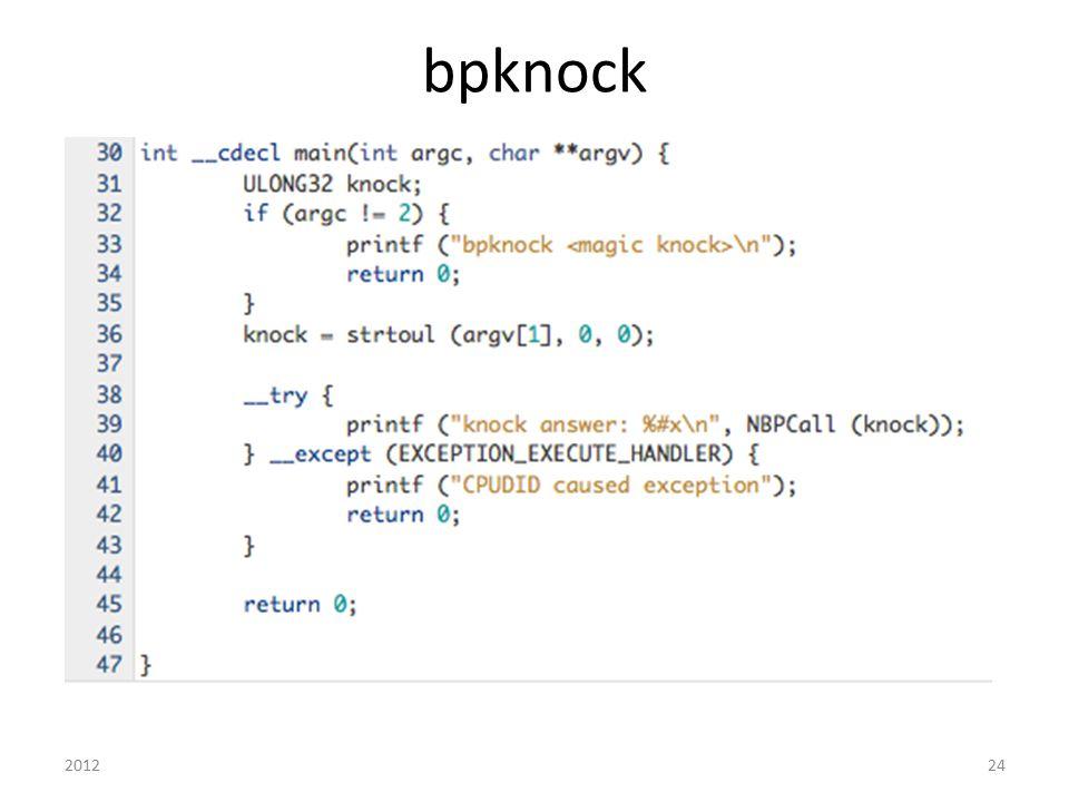 bpknock 2012