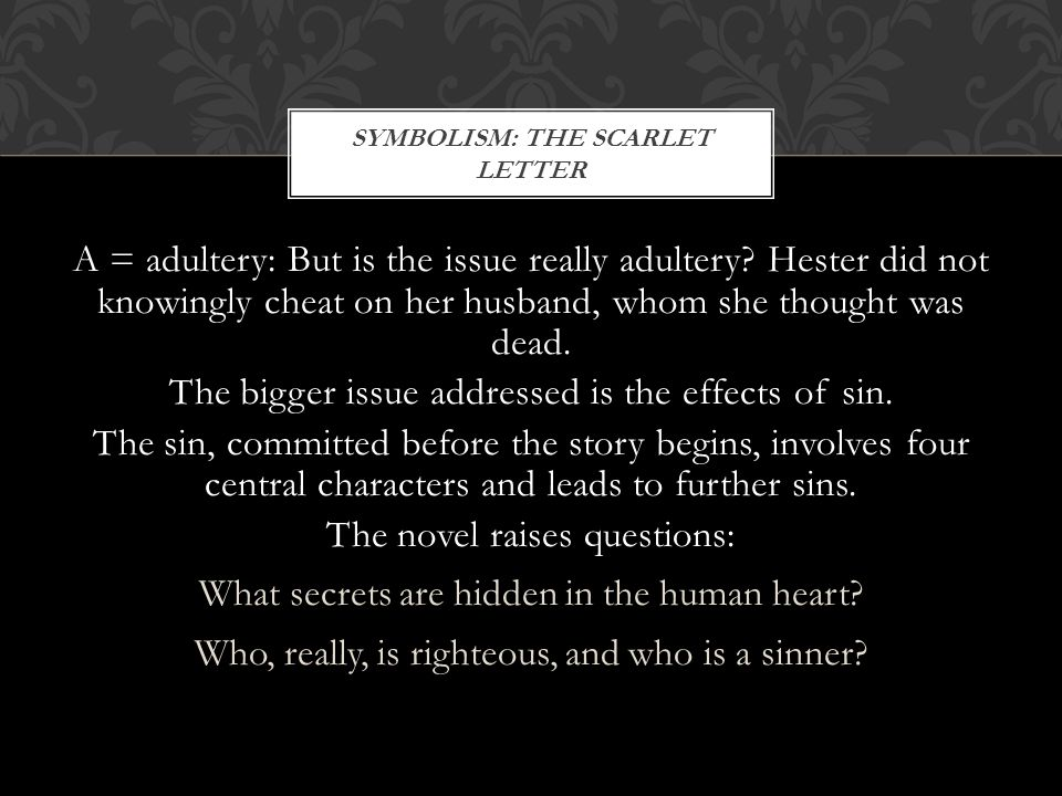 Effects of sin in the scarlet
