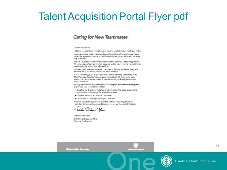 Talent Acquisition Portal Flyer pdf