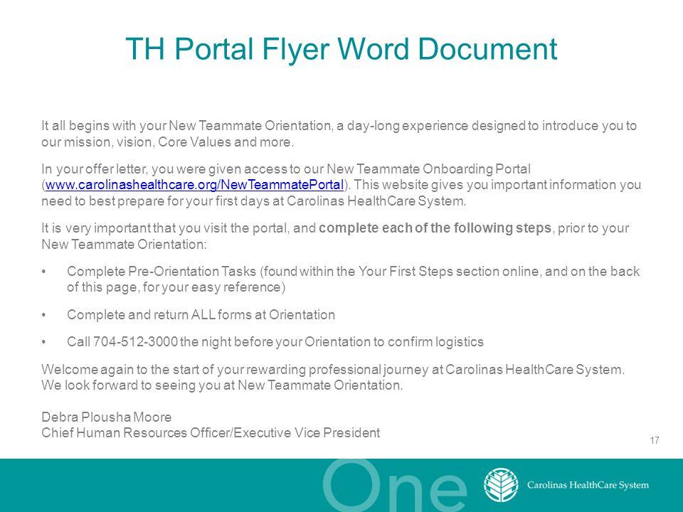 TH Portal Flyer Word Document