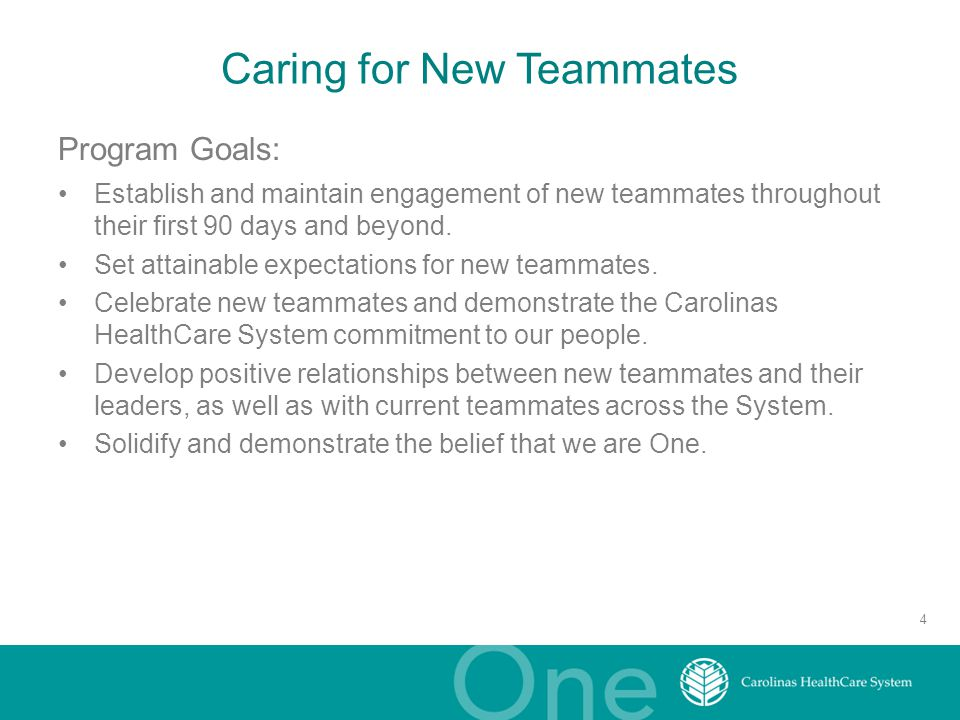 Caring for New Teammates