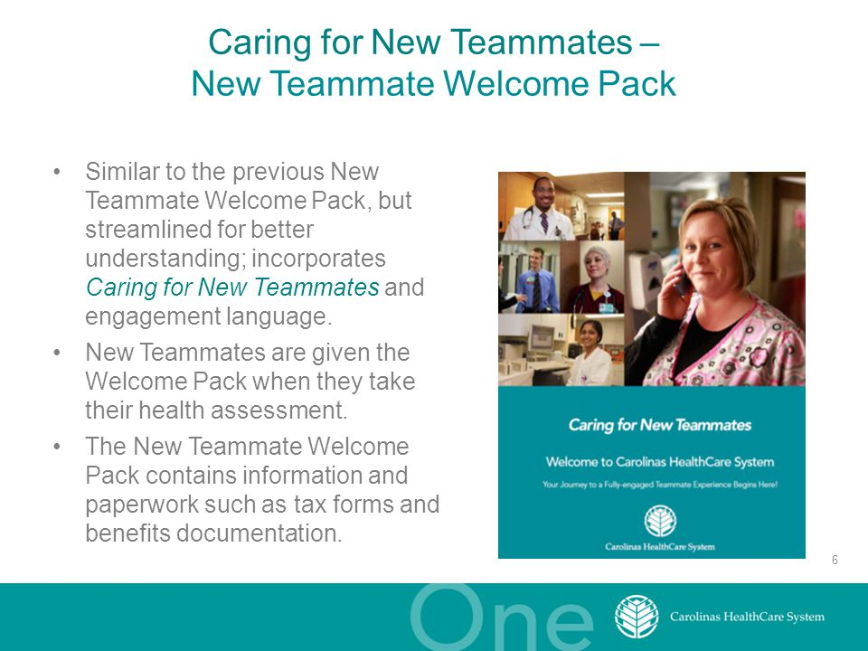 Caring for New Teammates – New Teammate Welcome Pack