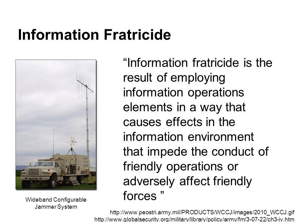 Information Fratricide