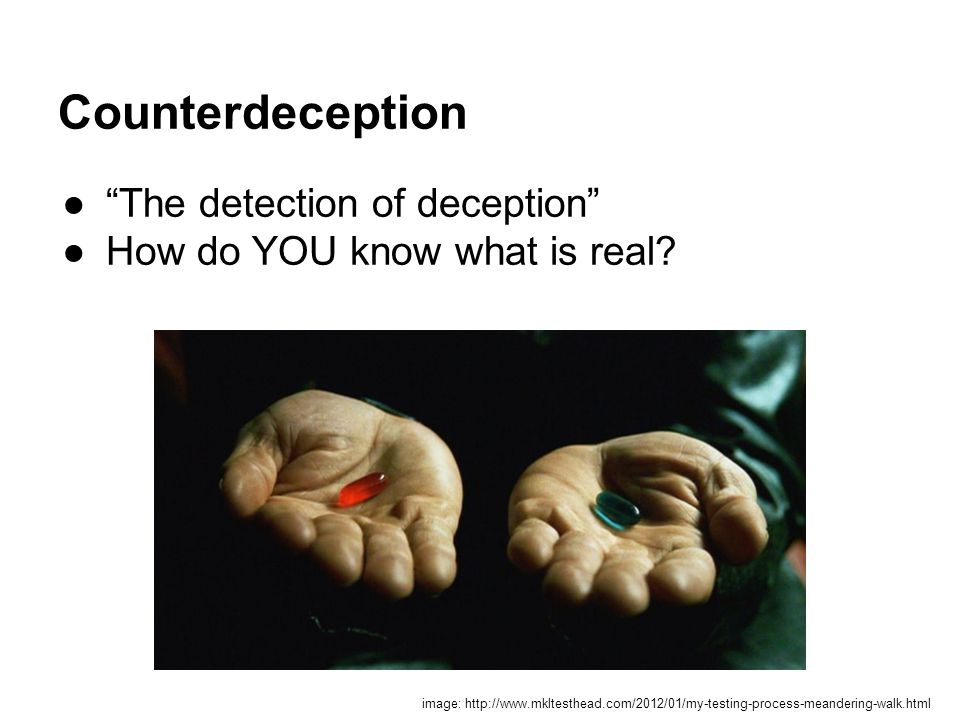 Counterdeception The detection of deception