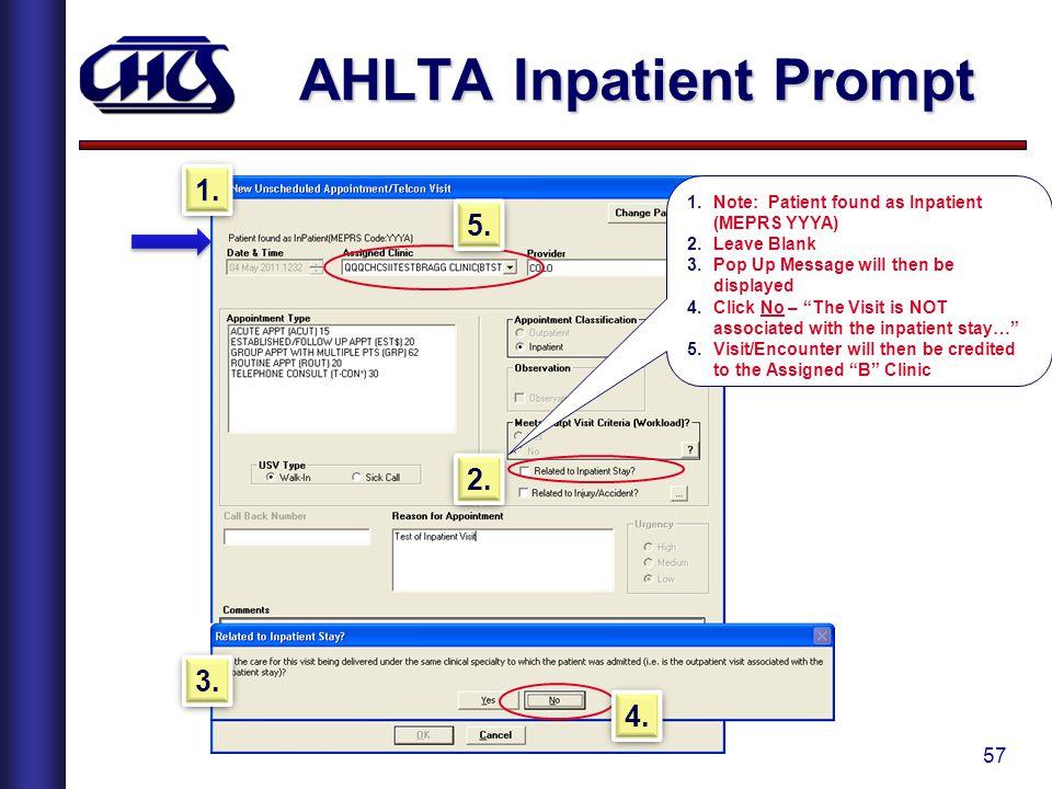 AHLTA Inpatient Prompt