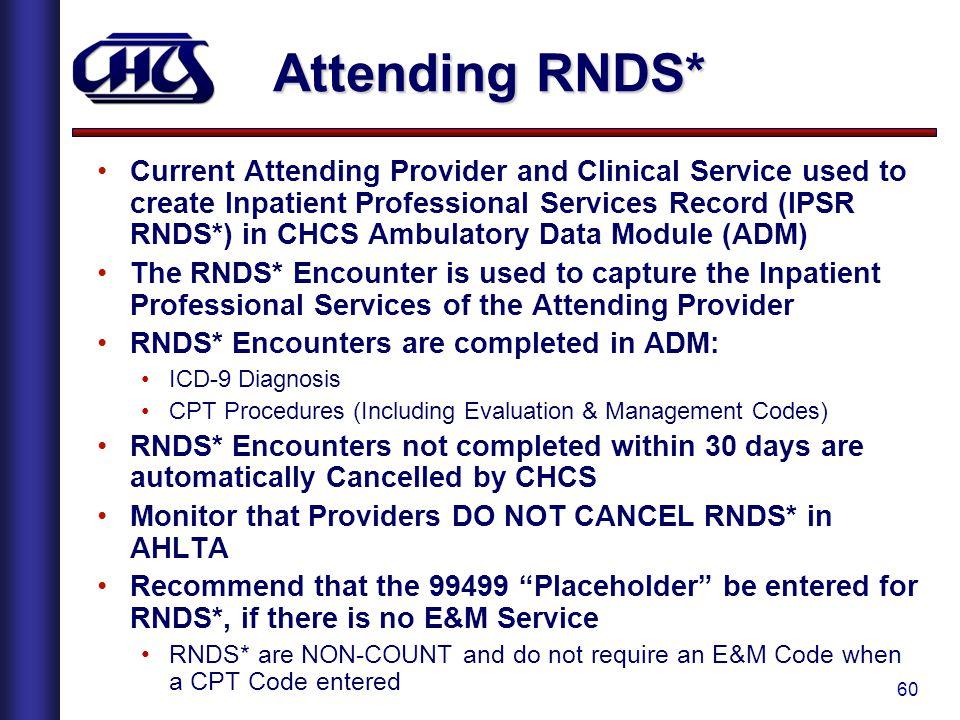 Attending RNDS*