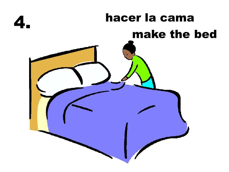 hacer la cama 4. make the bed