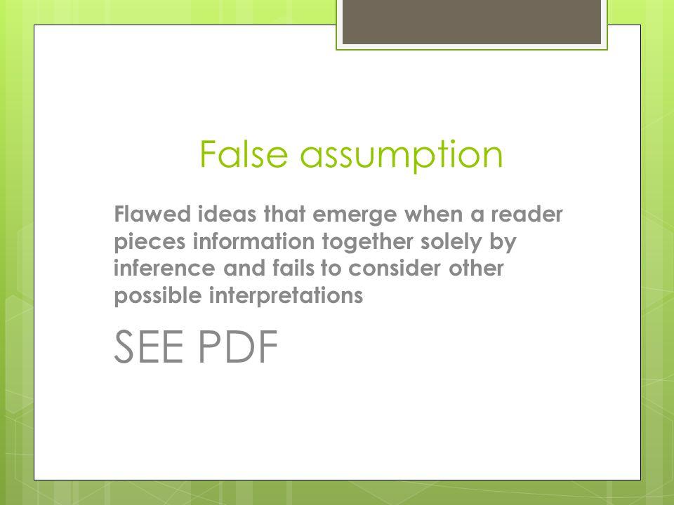 SEE PDF False assumption