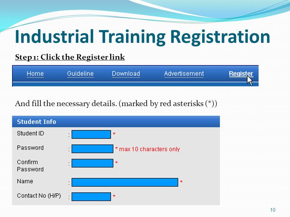 Industrial Training Registration