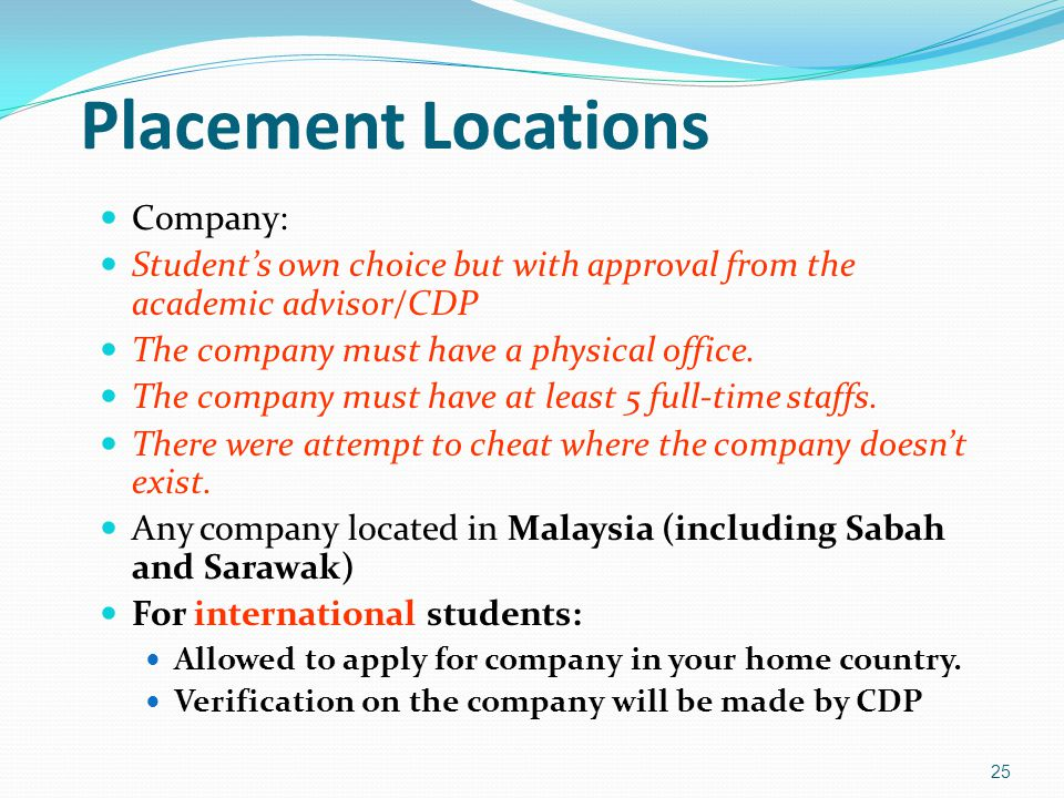 Placement Locations Company:
