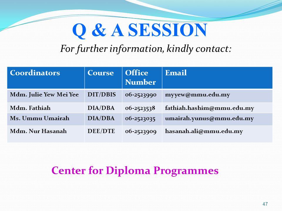 Center for Diploma Programmes