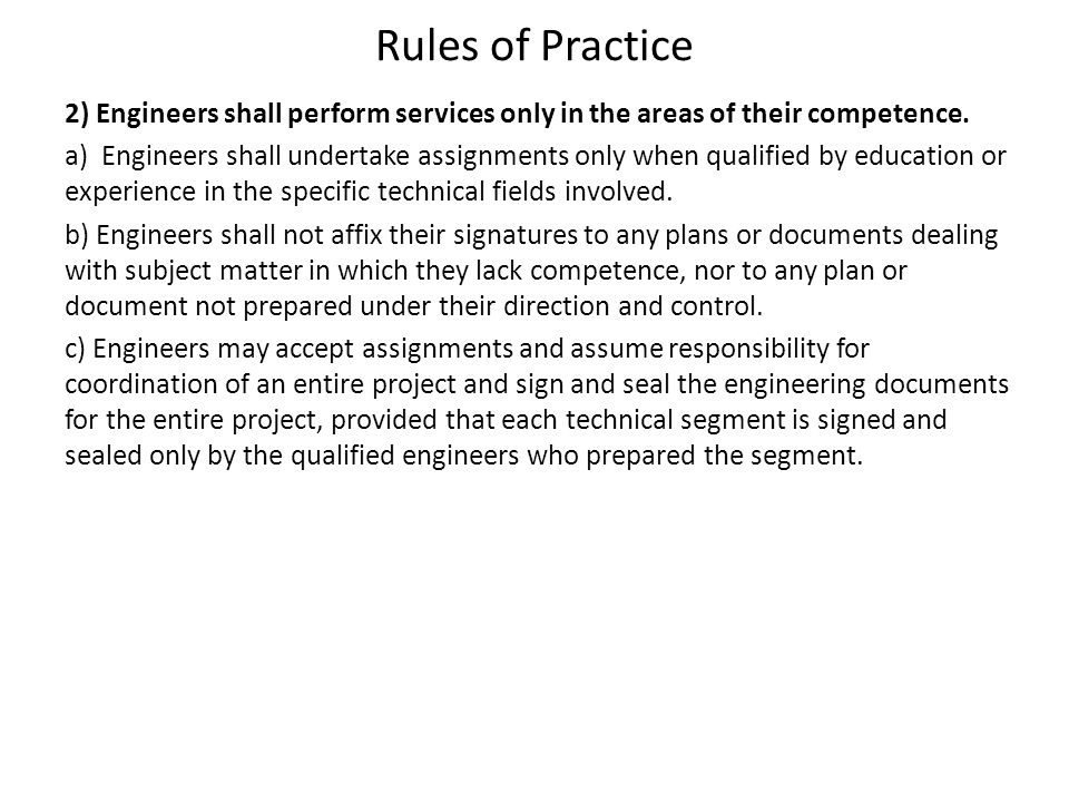 Rules of Practice