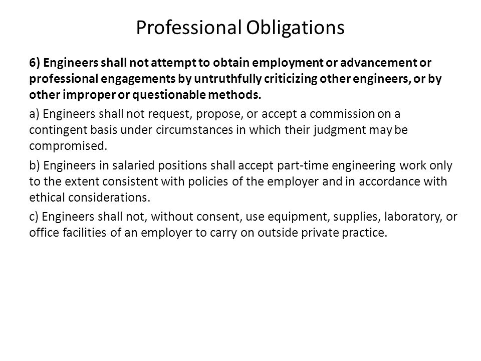 Professional Obligations