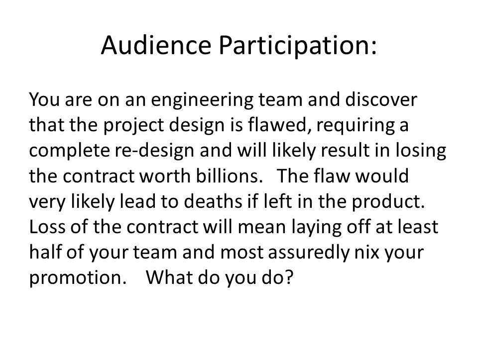 Audience Participation: