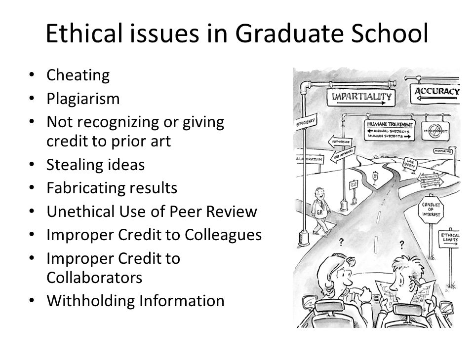 Ethical issues in Graduate School
