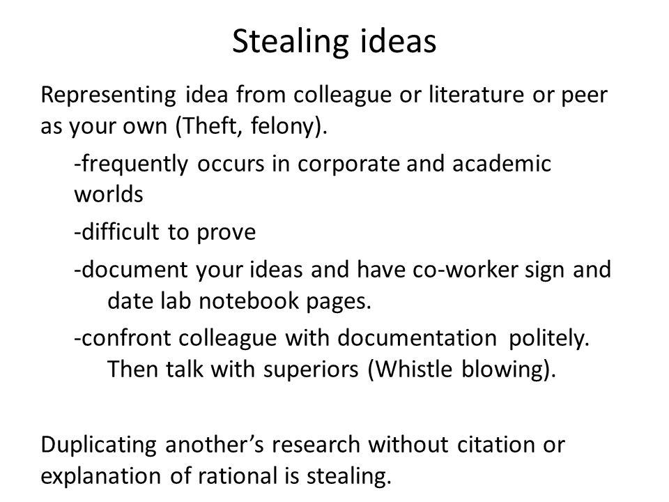 Stealing ideas