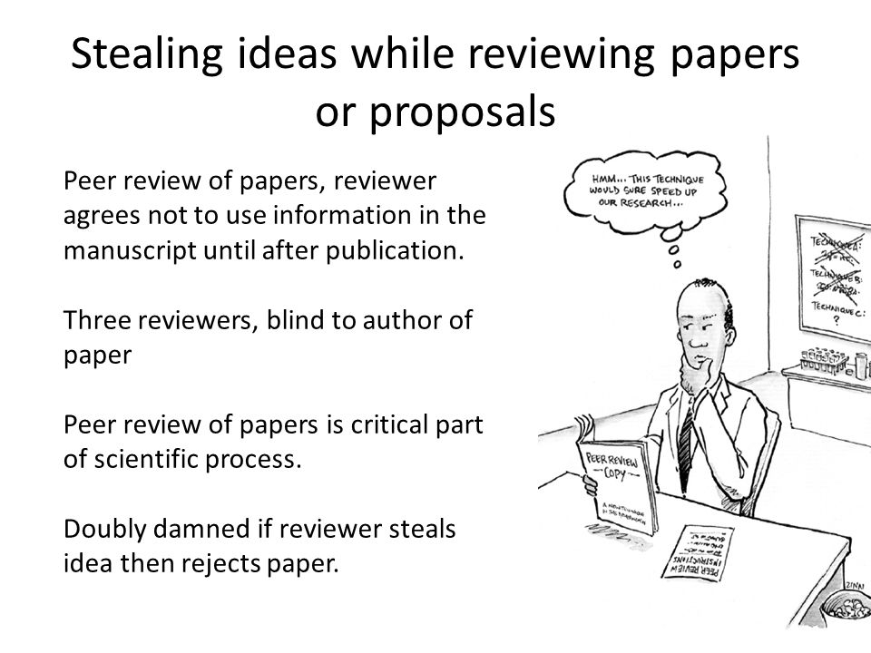 Stealing ideas while reviewing papers or proposals