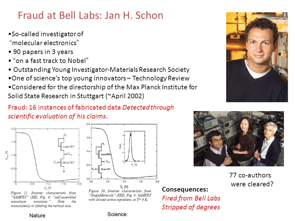 Fraud at Bell Labs: Jan H. Schon