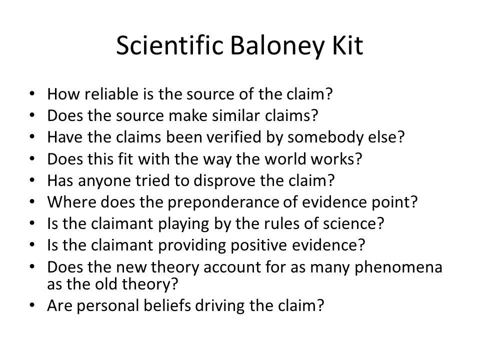 Scientific Baloney Kit