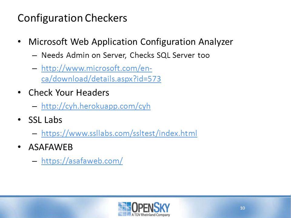 Configuration Checkers